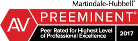 Attorneys Eminent Domain & Condemnation Lawyers Martindale-Hubble Top Rated Lawyers™ AV Preeminent Rating® for Best Lawyers